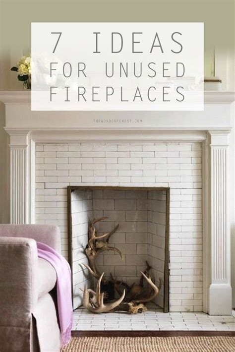 awesome ideas   unused fireplace   place