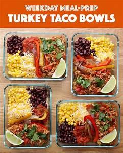 Meal Prep Einfrieren : weekday meal prep turkey taco bowls healthy meals mittagessen gesundes essen fitness essen ~ Somuchworld.com Haus und Dekorationen