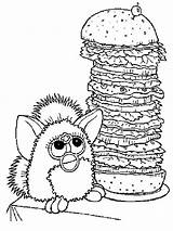 Coloring Pages Burger Cheeseburger Hamburger Furby King Template Printable Getcolorings Colorings Giant Getdrawings Comments sketch template