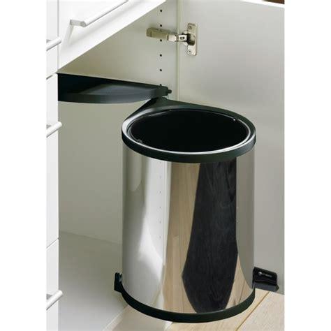 poubelle cuisine porte poubelle de porte automatique en inox 1 seau de 13