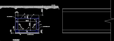 Box Auto Dwg by Single Cell Box Culvert Section Dwg Section For Autocad