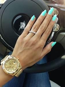 Close up #turquoisenails #goldrolex   My Manicures (All ...