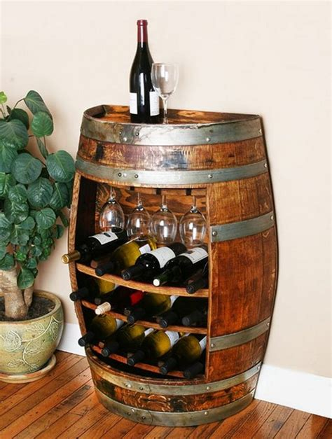 wine rack furniture recycled wine barrels the owner builder network