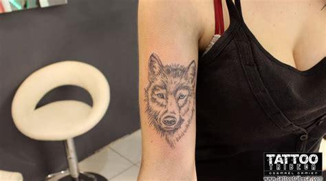 tatouage loup femme avant bras