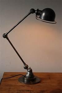 Lampe Bureau Vintage : lampe bureau jielde 2 bras polie graphite ~ Teatrodelosmanantiales.com Idées de Décoration