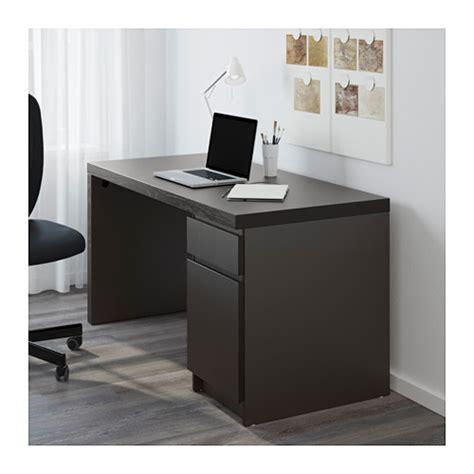 malm bureau brun noir ikea