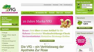 Apotheke Per Rechnung : vfg versandapotheke gutscheine ~ Themetempest.com Abrechnung