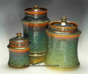 unique kitchen canister sets lidded canister promethean pottery
