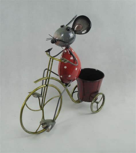 Anxi Qunsheng Garden Decoration by Garden Decoration Metal Animal Bicyle Flower Pot Anxi