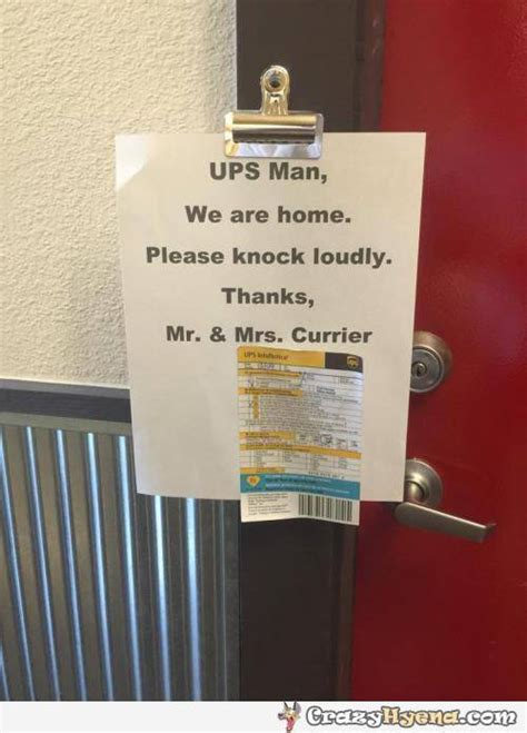 funny sign ups man  knock loudly