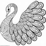 Zentangle Coloring Pages Animal Printable Swan Easy Adult Zentangles Getcoloringpages Mandala Adults Colorare Da Drawings Birds Drawing Books Animali Bird sketch template
