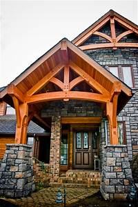 Timber Framed Entryways Showcase - Craftsman - Entry