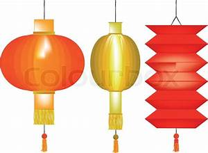 Chinese Lanterns Stock Vector Colourbox