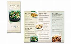 cafe deli take out brochure template design With free take out menu templates