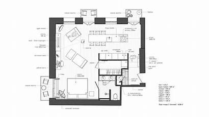 Apartment Studio Plan Architecture Interior Apartments Plans