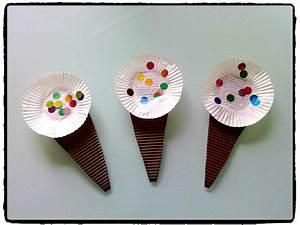 Activité Manuelle été : des cornets de glace bricolages d 39 t bricolage ~ Melissatoandfro.com Idées de Décoration