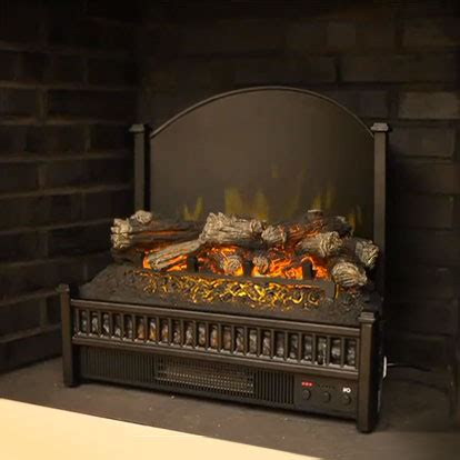 23 electric fireplace insert comfort glow 23 quot deluxe electric fireplace log set elcg347