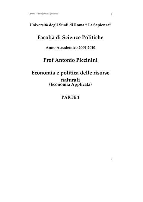 dispense economia politica economia e politica delle risorse naturali dispense