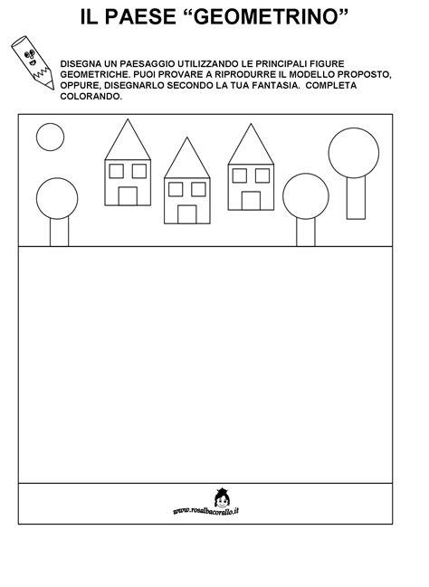 giochi di logica per bambini di 5 anni da stare schede didattiche figure geometriche per bambini di 4 5