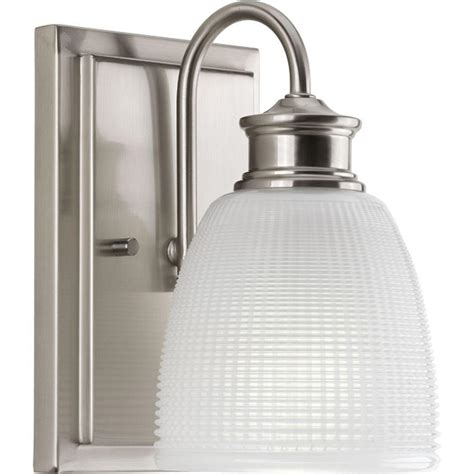 bathroom lighting collections progress lighting lucky collection 1 light brushed nickel