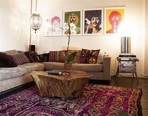 Bohemian style living room | Orchidlagoon.com