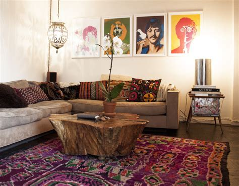 Bohemian style living room   Orchidlagoon.com
