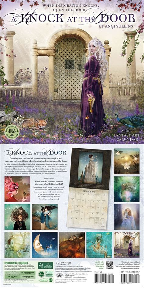 knock door wall calendar calendars doors