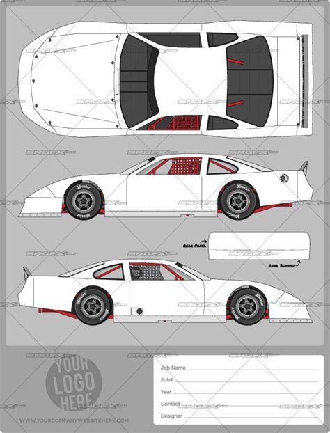 race car template asphalt late model template srgfx