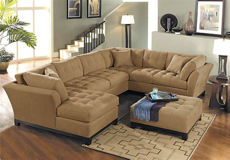 rooms to go sectional sofas cindy crawford metropolis peat 4pc sectional living room
