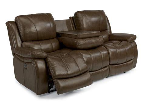 flexsteel leather reclining sofa flexsteel living room leather power reclining sofa 1343