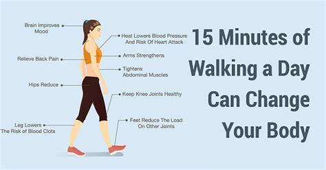 benefits  walking    minutes  day