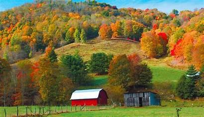 Farm Western Carolina North Piedmont Fall Barn