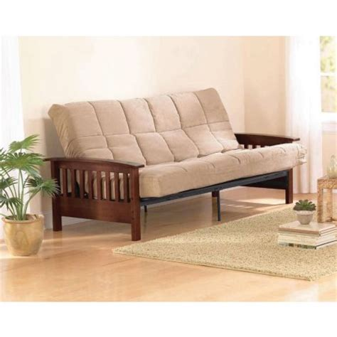 sofa bed walmart toronto better homes and gardens neo mission futon brown