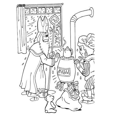 Kleurplaat Zwarte Piet Op Het Dak by Kleurplaat Zwarte Piet Op Het Dak Krijg Duizenden