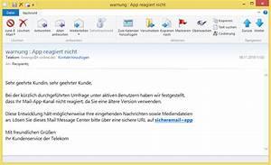App Reagiert Nicht : warnung app reagiert nicht von telekom iniengo t ist phishing vorsicht e mail ~ Orissabook.com Haus und Dekorationen