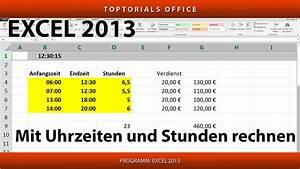 Stunden Berechnen Excel : mit uhrzeiten und stunden rechnen excel youtube ~ Themetempest.com Abrechnung