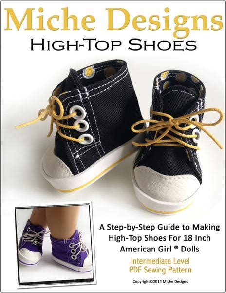 high tops   doll shoes  pattern  pixie