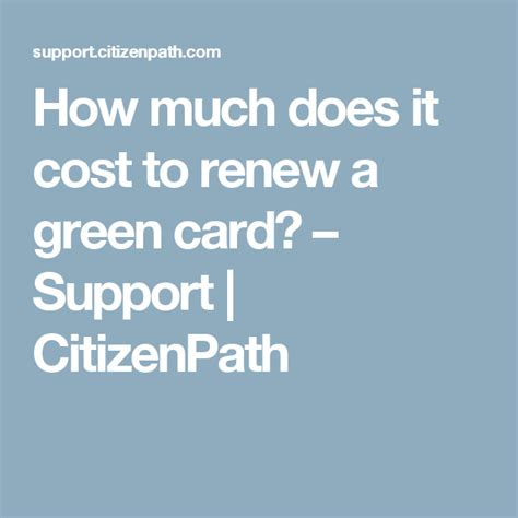 What are the duties of green card holders? Green Card Renewal Costs and Fee Exceptions   Green cards, Green card renewal, How to remove