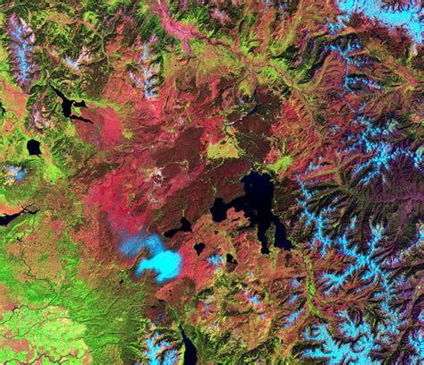 national space yellowstone park most nasa parks seen wired geoeye above below