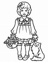 Coloring Girly Pages Printable Kitty Hello Popular sketch template