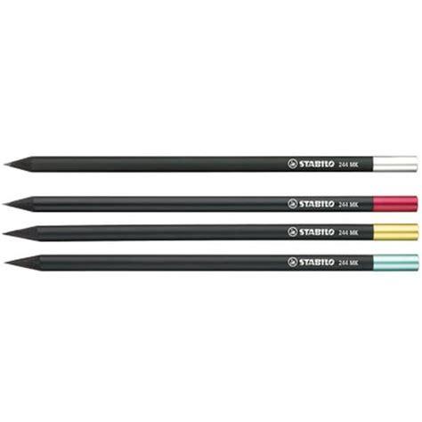 bureau customisé crayon graphite bois noir avec capsule en métal cadeau