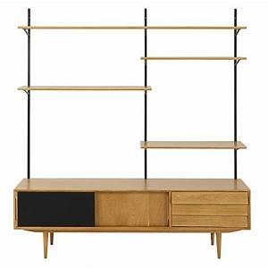 Meuble Vintage Pas Cher : meuble tv tag re vintage 3 portes sheffield meuble tv maisons du monde ventes pas ~ Teatrodelosmanantiales.com Idées de Décoration