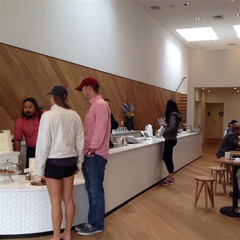 A great coffee destination, with a beautiful interior and baristas in more proper/formal attire, serving up delicious drinks and a selection of pastries and saint frank. Saint Frank - Coffee Shop in San Francisco