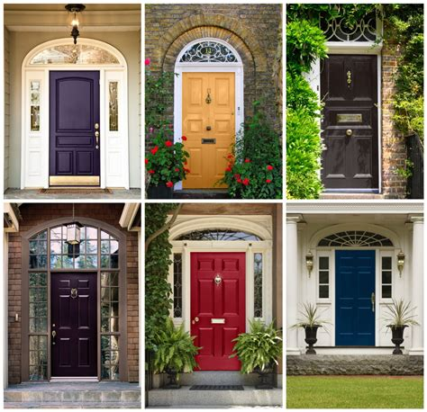 Front Door And Curb Appeal Decor Colored Front Doors