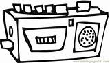 Radio Coloring Pages Appliances Printable Technology Coloringpages101 sketch template