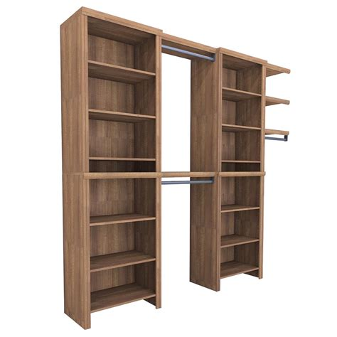 closetmaid impressions 8 ft 12 ft wide walnut entry