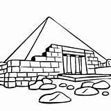 Coloring Pyramid Ruins sketch template