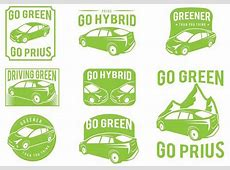 Prius Green Car Badge Set Free Vector Download 372429