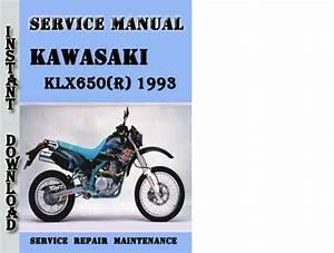 Kawasaki Klx650 R  1993 Service Repair Manual Pdf Download