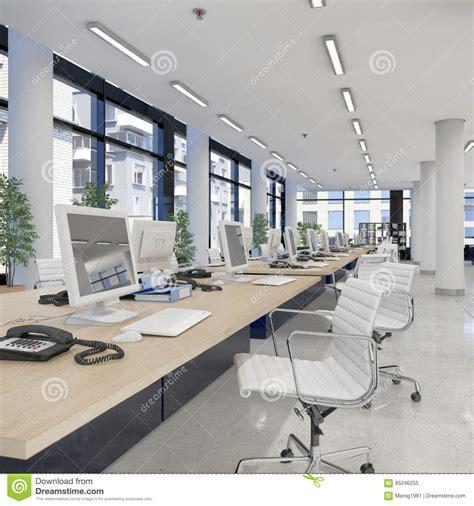 immeuble de bureau 3d rendent bureau ouvert de plan l 39 immeuble de bureaux